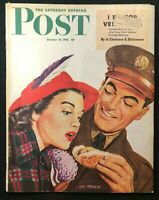 SATURDAY EVENING POST - Oct 10 1942 - Al Moore Cover / AMPHIBIOUS WAR IN WWII