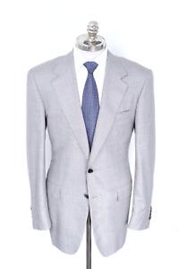 NWT $5350 STEFANO RICCI Gray Plaid Cashmere Silk Sport Coat 42 L (EU 52)