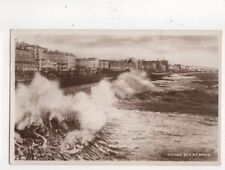 Rough Sea At Hove 1948 RP Postcard Wardell 693a