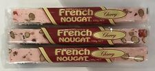 909765 3 x 100g BARS OF BERTOLDO'S TRADITIONAL CHERRY FRENCH NOUGAT - HAND MADE