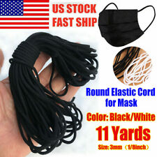 3mm Round Elastic Band Cord Ear Hanging Sewing Crafts DIY 10 Yards Length US