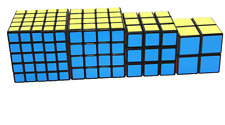 Rubik Cube Puzzle Bundle Pack, 4pk Family Puzzle Speed Challenge, Collection Set