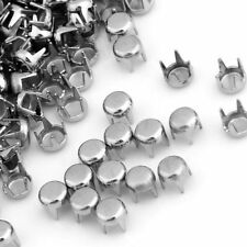 500 x Metal Studs Spots Rivets Craft for Belt Clothing Hoes Bags Findings 4MM