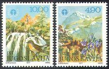 Yugoslavia 1977 Bird/Flowers/Waterfall/Mountains/Environment 2v set (n21430)