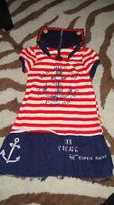 HARAJUKU MINI 2T RED STRIPED SAIL BOAT ANCHOR DRESS
