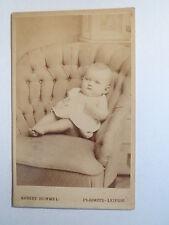 Plagwitz - Leipzig - im Sessel sitzendes Baby - Kleinkind - Portrait / CDV