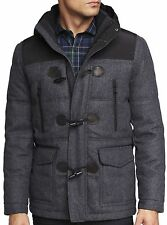 New EXPRESS Quilted Wool Duffle Coat, nwt, L, $300 (Hooded Jacket) ***LAST ONE**