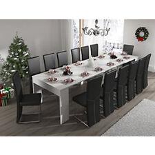 Mesa de comedor / extensible / 5 posiciones / Blanco Brillo / Recibidor / Cocina