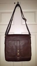 Fossil Men's TRAVIS CITYBAG SBG1129200 Leather Flap Brown LG Messenger, NWT