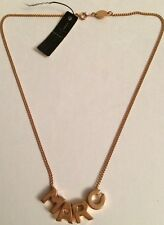 """NWT Marc By Marc Jacobs Rose Gold Womens Necklace Letters 18"""" Long"""