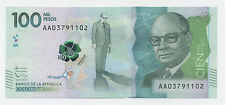 Colombia 100000 Pesos 8-8-2014 (2016) Pick New UNC Uncirculated Banknote