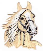 am12 Pferd Pferdekopf Aufnäher Bügelbild Patch Reiten Reitsport 6,5 x 8,5 cm DIY