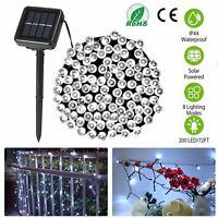 200 LED Outdoor Solar Power String Light Garden Fairy Lamps Christmas Home Decor