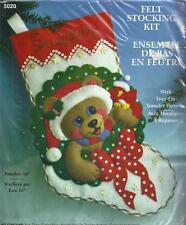 Design Works Teddy Bear Christmas Stocking Felt Kit 5020  Embroidery Sewing