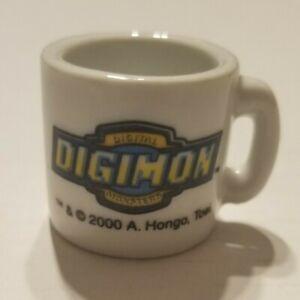 Digimon Vintage Rare Mini Miniature Ceramic Mug Tai Kamiya Akira Tea Graphic