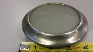 Vintage lamp octagon glass Courtesy Dome Light Packard Cadillac Oakland Lincoln