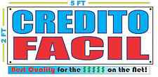 CREDITO FACIL Full Color Banner Sign NEW XXL Size Best Quality for the $ CAR LOT