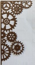 "GEAR CORNER PAGE Die-Cuts(4pc) 5""x2.5""Photo Corner•Steampunk•Cog •Wheel•Sprocket"