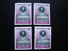 LUXEMBOURG - timbre yvert et tellier n° 1392 x4 obl (A30) stamp