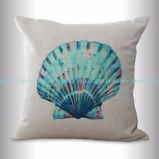 US SELLER, scallop seashell beach nautical cushion cover cheap throw pillow sets