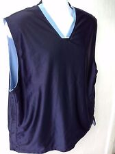 Starter Blue/Blue Reversible Activewear Top V Neck Sleeveless Men' Shirt Size Xl