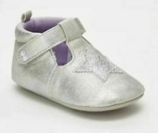 Toddler Girl Surprize Stride Rite Silver Heidi Shoes Sizes 6-12 12-24 Months #a3