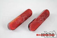 Red 6mm Thread Plastic Reflective Reflector Sticker For ATV Dirt Bike Truck Car
