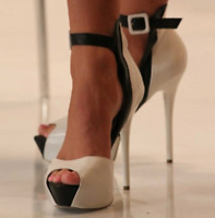 Women Peep Toe Ankle Strap High Heel Platform Shoes Stilettos Party Sexy Sandals