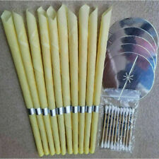 10pcs Ear-Wax Candles Wax Hollow Blend Cone Beeswax Massage Cleaning US STOCK