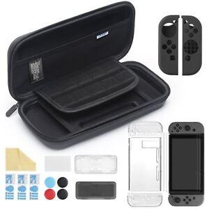 11 in 1 Accessori per Nintendo Switch, Custodia +Cover Trasparente +3 Pellicole