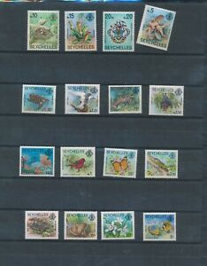 XC59543 Seychelles animals fauna flora wildlife fine lot MNH