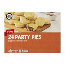 Coles Frozen Party Pies 24 Pack 1.1kg