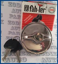 Locking Stainless Steel Fuel Gas / Tank Filler Cap Vintage Polished