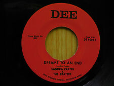 Sandra Prater michigan country 45 Dreams To An End bw A Little White Cross Dee