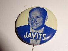 New York Senator Campaign Pin Back Button Local Jacob Javits Congress U.S.