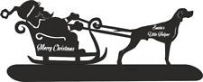 More details for pointer santa sleigh santa's little helper christmas ornament dog breed