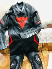 Motorbike leather suit Dainese Racing Suit Cowhide leather CE approved armor