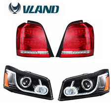 New LED DRL Projector Headlights & Tail Light For TOYOTA HIGHLANDER 2001-2007