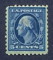 Scott US #428 - 1914-15 Washington, 5 Cents; Mint Never Hinged; OG; CV=$75