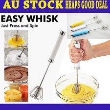 1x Better Beater Push Rotation Whisk Baking Frother Mixer Blender Egg Stirring