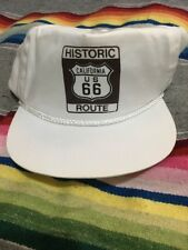 Vtg Historic Route 66 California Us Highway Interstate Travel Snapback Hat cap