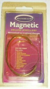 MAGNOHEALTH MAGNETIC DELUXE JEWELLERY 24CT GOLD SILVER PLATED NARROW BRACELET SM