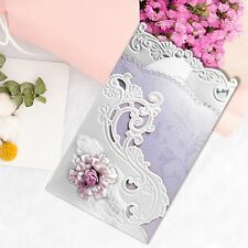 Flower Wave Border Metal Cutting Dies Stencil Scrapbook Album Card Embossing