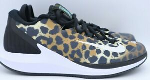 Nike Womens Court Air Zoom Zero HC Tennis Shoes Cheetah Print AA8022-702 8.5 M