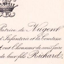Richard De Nugent Macon Saône-et-Loire 5 septembre 1882