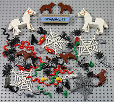 LEGO - 80 pcs Animals Lot - Horse Crab Clam Fish Dog Spider Snake Bat Rat Frog