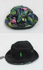 Polo Ralph Lauren Reversible Bucket Cap Flamingo Black Green Hat NWT