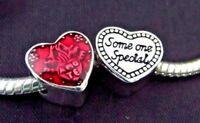 LOVE CHARM WIFE LATIN HEART RED ENAMEL AMO TE SOMEONE SPECIAL BIRTHDAY +GIFT BAG