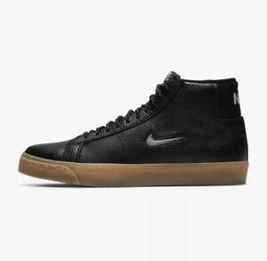 Nike SB Zoom Blazer Mid Premium (Men's Size 7.5) Athletic Black Skate Sneaker
