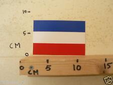 STICKER,DECAL NEDERLANDSE VLAG RECHTHOEK , DUTCH FLAG 12 CM
